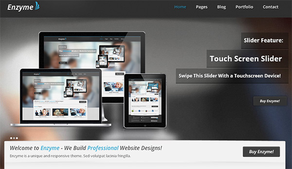 Enzyme in 23 Free HTML Templates