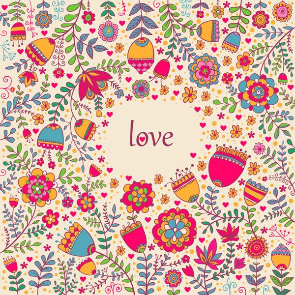 Floral patterns by Smirnova in St. Valentine's Day: Inspiration Showcase