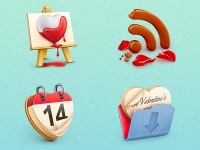 Free St. Valentine's icon set by Cuberto in 16 Valentine's Day Design Freebies