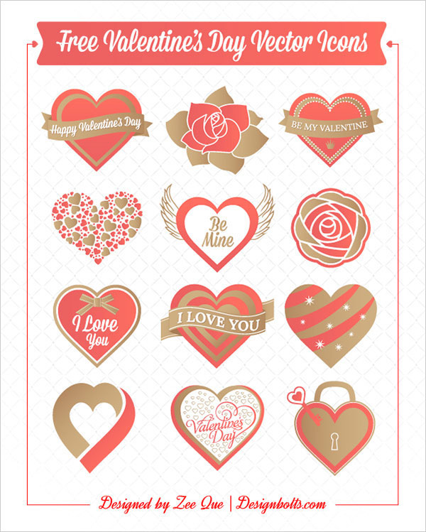 Free Valentine Vector Icon by Zee Que in 16 Valentine's Day Design Freebies
