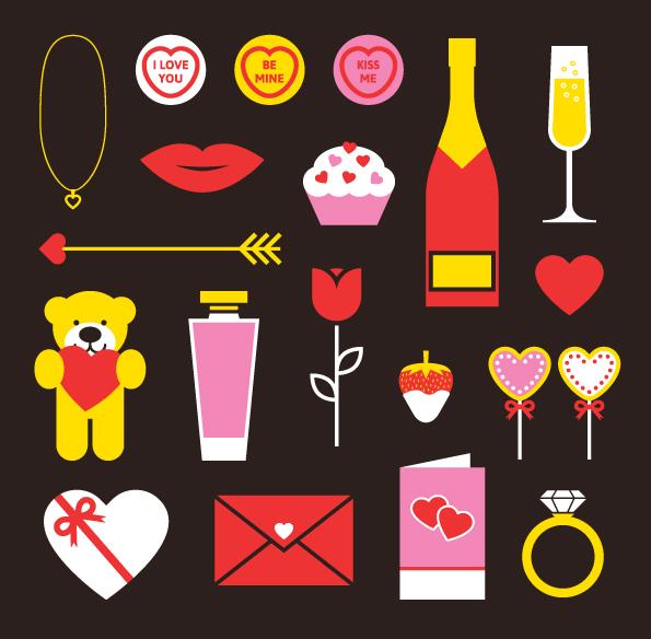 Free Valentines Vector Pack by Sam Jones in 16 Valentine's Day Design Freebies