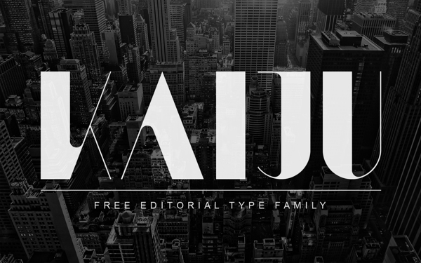 KAIJU free font by Anthony James in 25 Fresh and Free Fonts for February 2014
