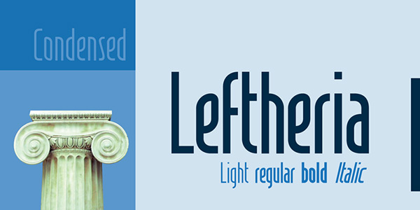 Leftheria by CORT9 in 25 Fresh and Free Fonts for February 2014