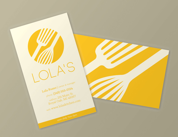 Lola's Brand Identity by Erica Tedesco in Showcase of 50 Creative Business Cards
