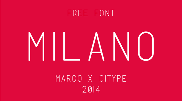 Milano free font by Marco Oggian in 25 Fresh and Free Fonts for February 2014