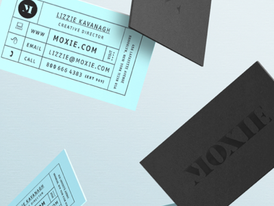 Moxie - Business cards by Lizzie Miller in Showcase of 50 Creative Business Cards