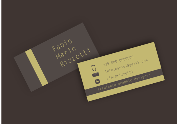My Personal Business Card by Fabio Mario Rizzotti in Showcase of 50 Creative Business Cards