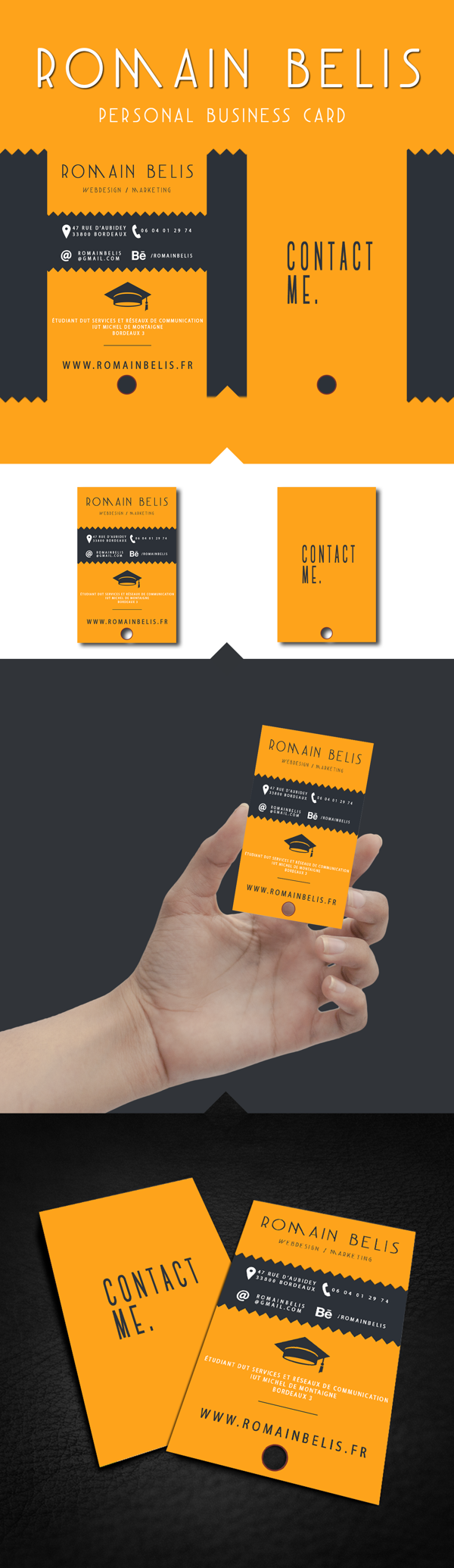 My Personal Business Card by Romain Belis in Showcase of 50 Creative Business Cards