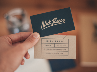 Nick Reese Cards by Brave People in Showcase of 50 Creative Business Cards