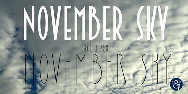 November Sky by Runes & Fonts in 25 Fresh and Free Fonts for February 2014
