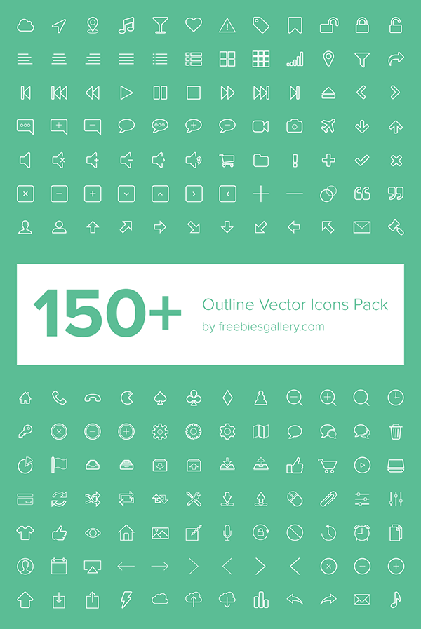 Outline-Vector-Icons-Pack