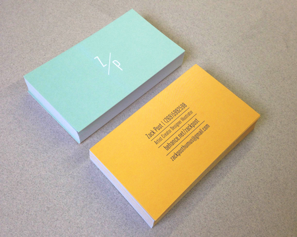 Personal Business Card by Zack Post in Showcase of 50 Creative Business Cards