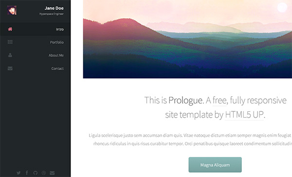 Prologue in 23 Free HTML Templates
