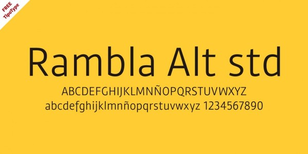 Rambla Alt free typeface by TipoType Foundry in 25 Fresh and Free Fonts for February 2014