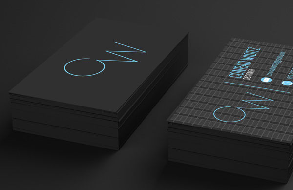 Self Branding by Conrad Widitz in Showcase of 50 Creative Business Cards