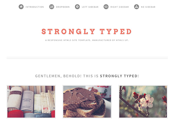 Strongly Typed in 23 Free HTML Templates
