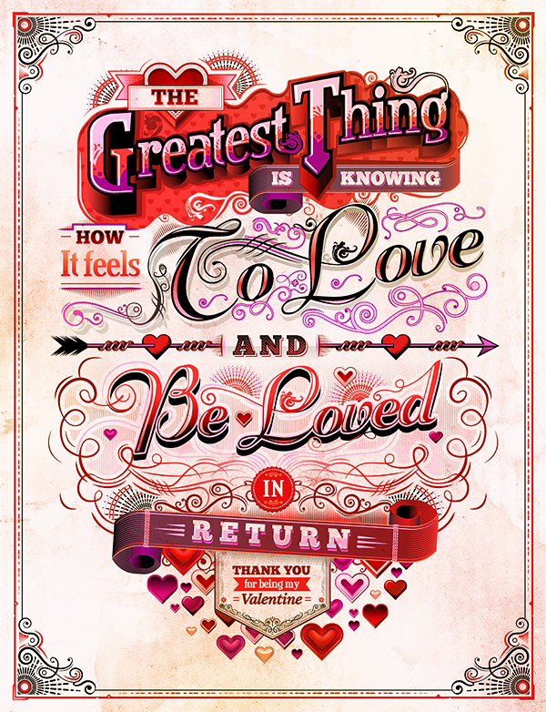 Valentine's Day Illustrations in St. Valentine's Day: Inspiration Showcase