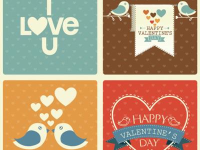 Valentine's Day Retro Set by Freepik in 16 Valentine's Day Design Freebies