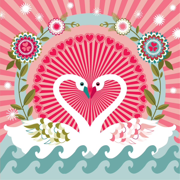 Vector Valentines by Charlotte Day in St. Valentine's Day: Inspiration Showcase