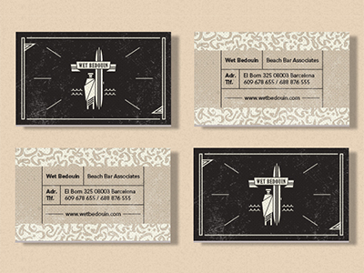 Wet Bedouin Business Cards by Tiberiu Sirbu in Showcase of 50 Creative Business Cards