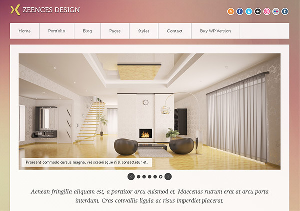 Zeences Light in 23 Free HTML Templates