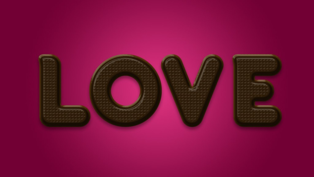 chocolate layerstyles 1024x576 Chocolate Text Effect in Photoshop for Valentines Day
