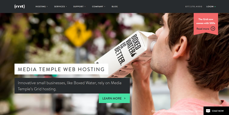 Media Temple homepage clean web design modern responsive web inspiration