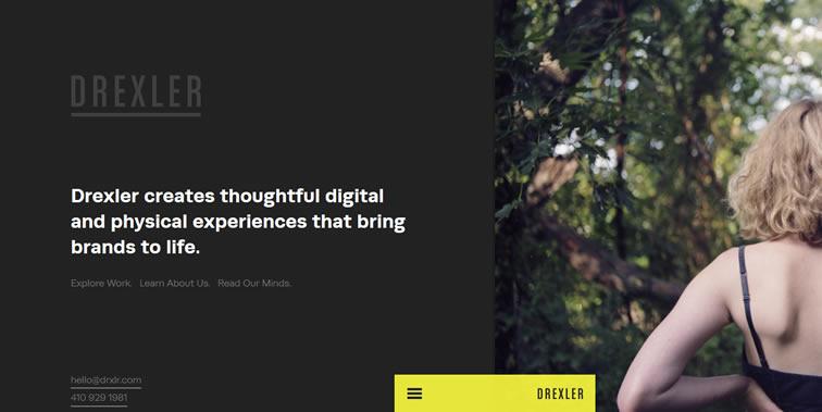 Drexler homepage clean web design modern responsive web inspiration
