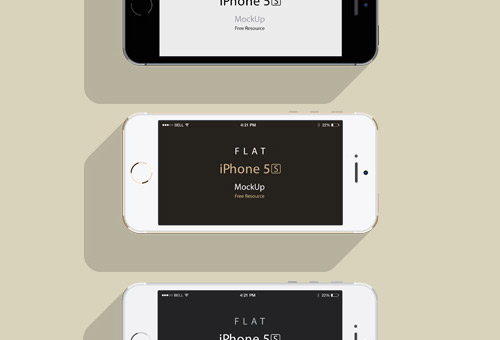 instantShift - Beautiful iPhone Mockup PSD Designs