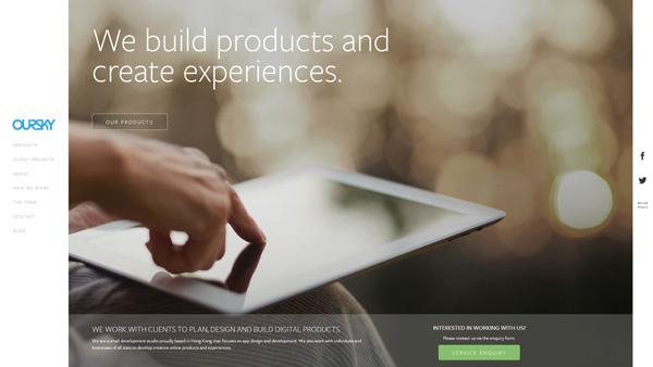 如何提升网站气质?来看看15个惊艳的全屏背景网站