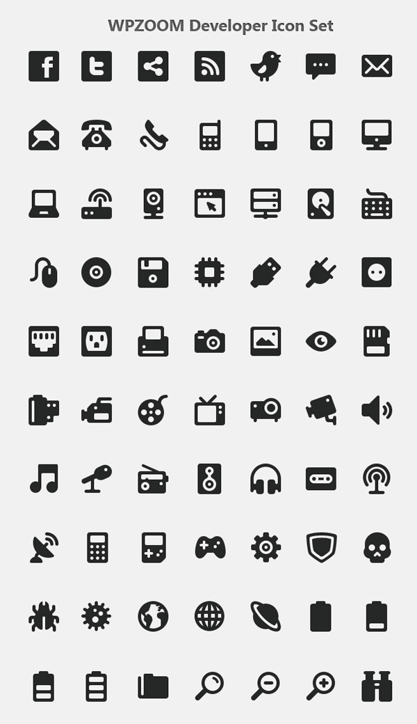 WPZOOM Developer Icon Set