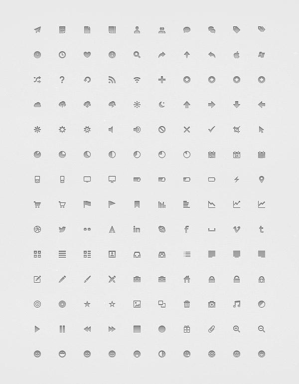 Assorted Pixel Perfect 14px Icon Set