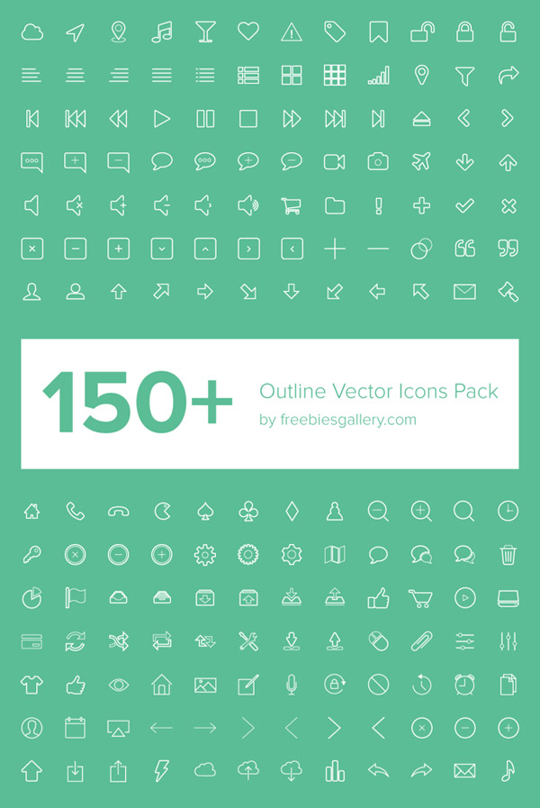 Outline Vectors Icon Pack