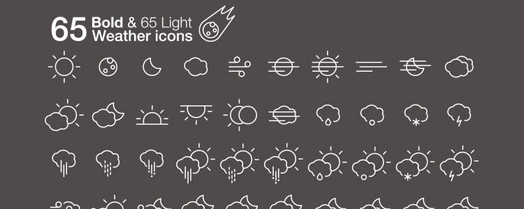 freebies designers web Weather Icons Pack