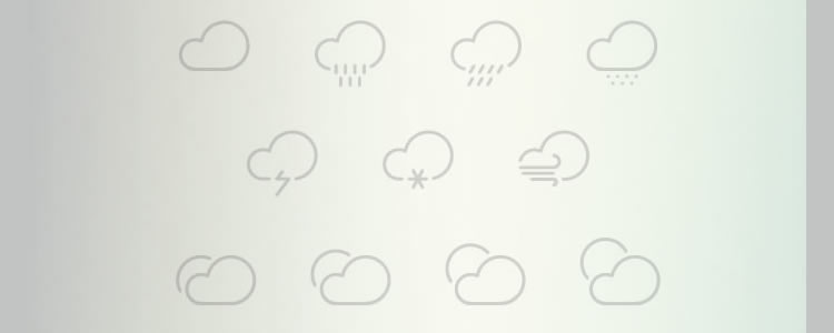 freebies designers web The Outlined Weather Icons Collection