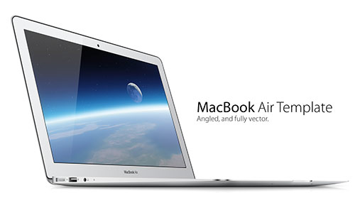 让作品高大上!30个高质量的MacBook原型素材免费下载
