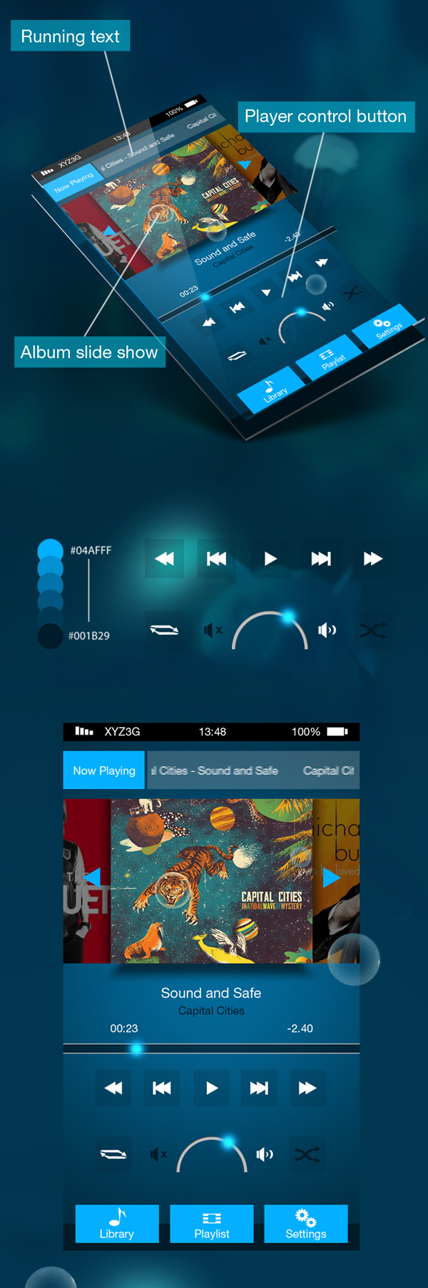 Deep Blue UI Free