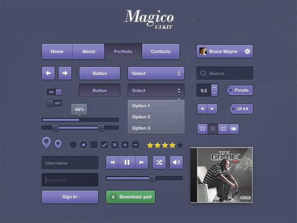 Magico UI Kit (PSD)