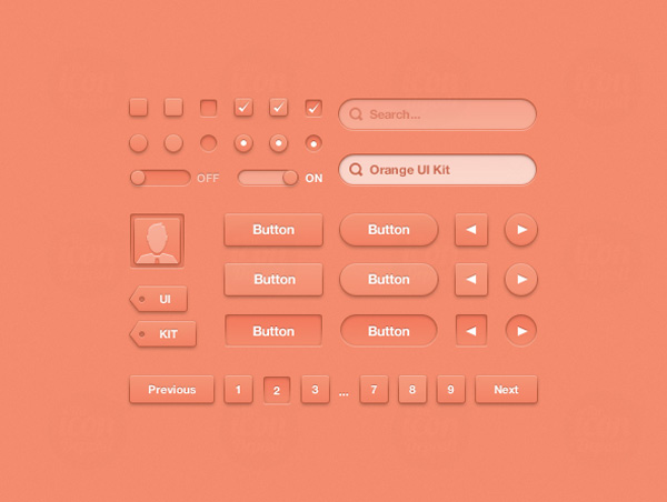 Orange UI Kit (Icon Deposit)