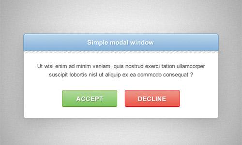 Notification Window PSD Designs