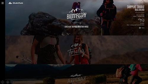 Quechua – Look Book Spring Summer 14 网站设计欣赏