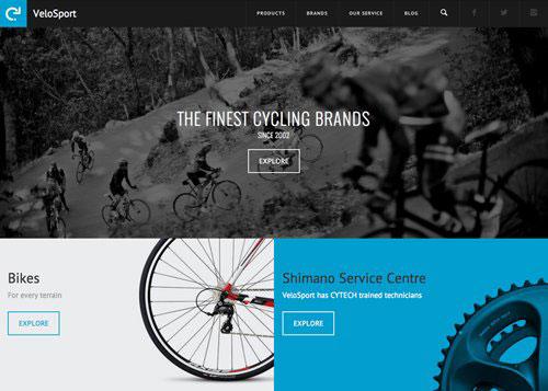 VeloSport 网页设计欣赏