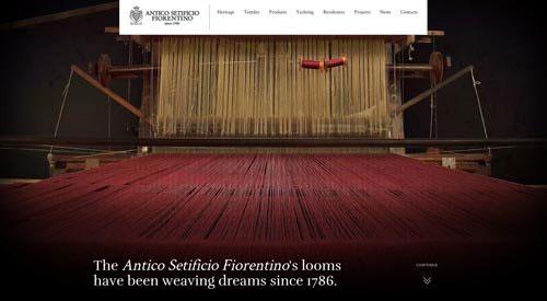 Antico Setificio Fiorentino 网页设计欣赏
