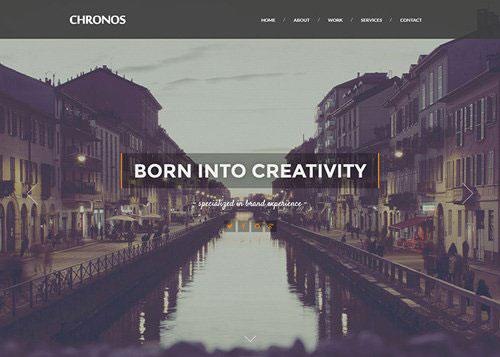 CHRONOS Parallax HTML Template 网页设计欣赏