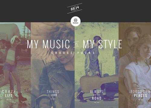 Music is my style 网页设计欣赏