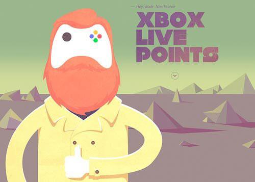 Xbox Gift Card 网页设计欣赏