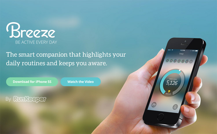 The Breeze homepage as an example of a stylish homepage in web design ux