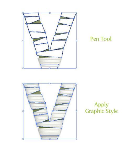 Ai教程:教你创建纱布缠绕的木乃伊文字效果