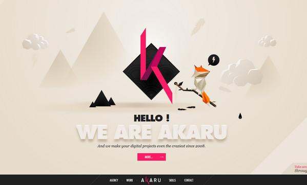Akaru 18个超酷的多边形背景网页设计