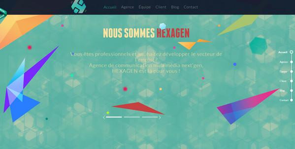 Hexagen 18个超酷的多边形背景网页设计